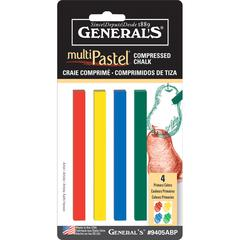 General's MultiPastel Compressed Sticks Primary