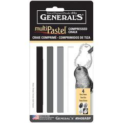 General's MultiPastel Compressed Sticks Grey Tones
