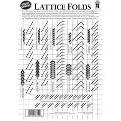 "8.5"" x 12"" Papercrafting Template Lattice Folds"