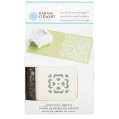 Martha Stewart Crafts Pattern Punch All Over The Page Magnetic Punch Petal Heart
