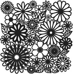 "The Crafter's Workshop 6"" x 6"" Design Template Flower Frenzy"