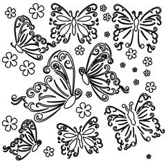 "The Crafter's Workshop 6"" x 6"" Design Template Butterflies"