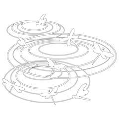 "6"" x 6"" Design Template Dragonfly Harmony"