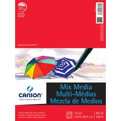 "Mixed Media Pad 20-sheet 9"" x 12"""