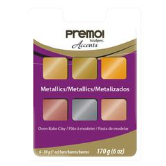 Sculpey Polymer Clay Metallic 6-Color Set