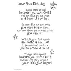 It Takes Two Poems For A Page Your 1st Birthday Stickers
