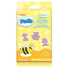 Sculpey Pluffy 4 oz. Oven Bake Clay Yellow