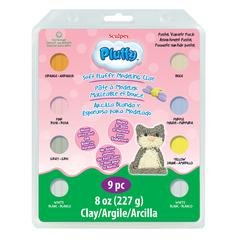 Sculpey Pluffy Oven-Bake Clay 9-Piece Pastel Set