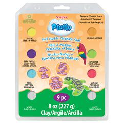 Sculpey Pluffy Oven-Bake Clay 9-Piece Tropical Set