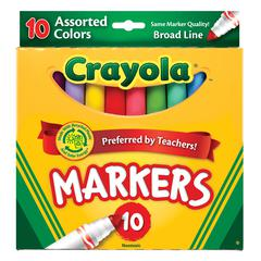 Crayola Broad Line 10-Color Marker Set