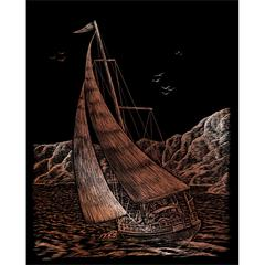 Engraving Art Set Copper Sailing