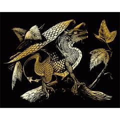 Royal & Langnickel Engraving Art Set Gold Baby Dragon