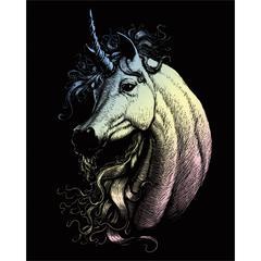 Engraving Art Set Holograph Unicorn
