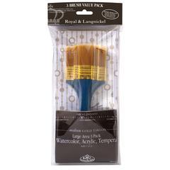 Royal & Langnickel Zip N' Close Flat Gold Taklon Brush Set