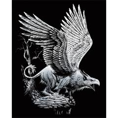 Engraving Art Set Silver Griffin