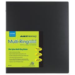 "Multi-Ring Mini Refillable Binder 8½"" x 11"""