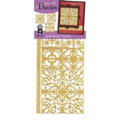 Stickers Quilt Blocks Gold