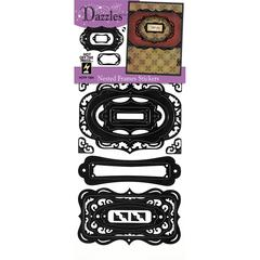 Dazzles Stickers Nested Frames Black