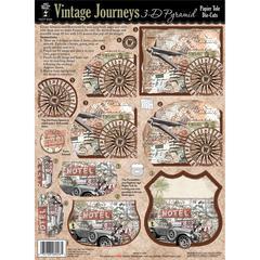 Hot Off the Press 3-D Papier Tole Die Cuts Vintage Journeys