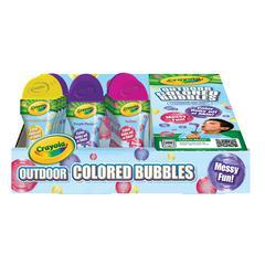 Crayola Outdoor Colored Bubbles 15-Piece Counter Display