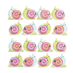 Repeats Stickers Snails