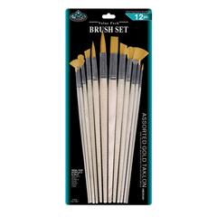 Gold Taklon Combo Brush Set