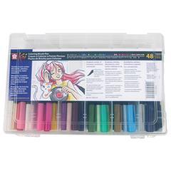 Coloring Brush Pens 48-Color Set