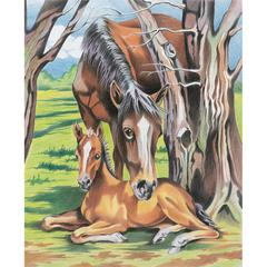 Reeves Medium Colored Pencil By Numbers Horse & Foal