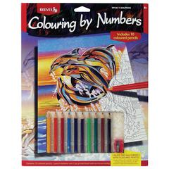 Reeves Medium Colored Pencil By Numbers Dolphins