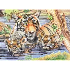 Reeves Large Colored Pencil By Numbers Tigers & Cubs