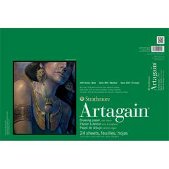"Strathmore Artagain 400 Series 12"" x 18"" Coal Black Glue Bound Pad"