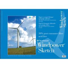 """Strathmore Windpower 18"""" x 24"""" Wire Bound Sketch Pad"""