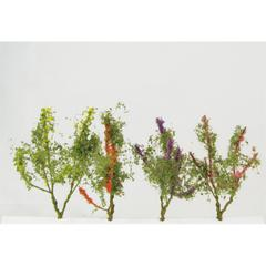 Wee Scapes Architectural Model Flower Trees Multicolor 8-Pack