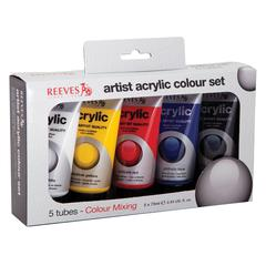 Reeves Acrylic 5-Color Set