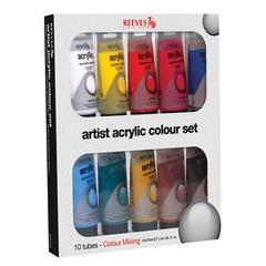 Reeves Acrylic 10-Color Set