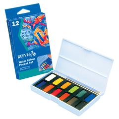 Reeves Watercolor Pocket Pan 12-Color Set