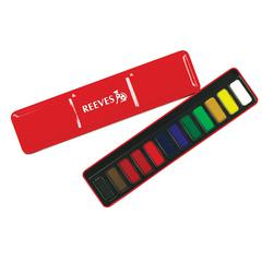 Reeves Watercolor Pan 12-Color Set Red Tin