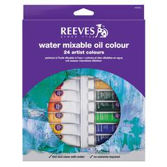 Reeves 10ml Water Mixable Oil 24-Color Set