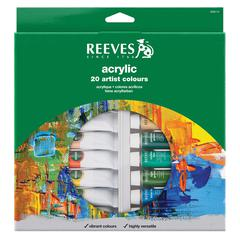 Reeves 22ml Acrylic 20-Color Set