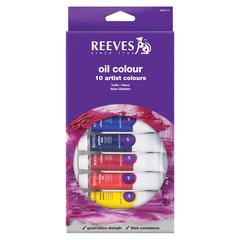 Reeves 22ml Oil Paint 10-Color Set