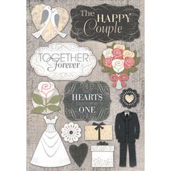 Cardstock Stickers The Happy Couple
