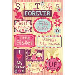 Karen Foster Design Cardstock Stickers Sisters Forever