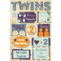 Karen Foster Design Cardstock Stickers Terrific Twins