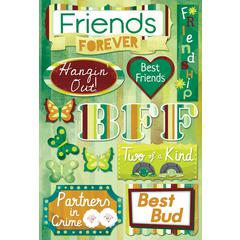 Karen Foster Design Cardstock Stickers Friends Forever