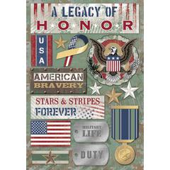 Karen Foster Design Cardstock Stickers Legacy of Honor