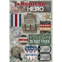 Cardstock Stickers American Hero