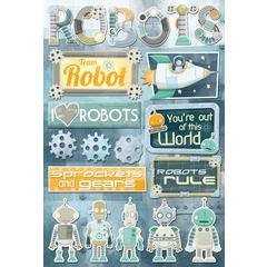 Karen Foster Design Cardstock Stickers Robots