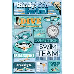 Cardstock Stickers Ready Set Swim