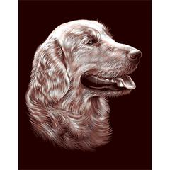 Gold Foil Retriever Portrait