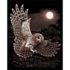 Gold Foil Barn Owl
